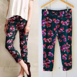 Anthro Cartonnier Charlie Ankle Floral Skinny Pant